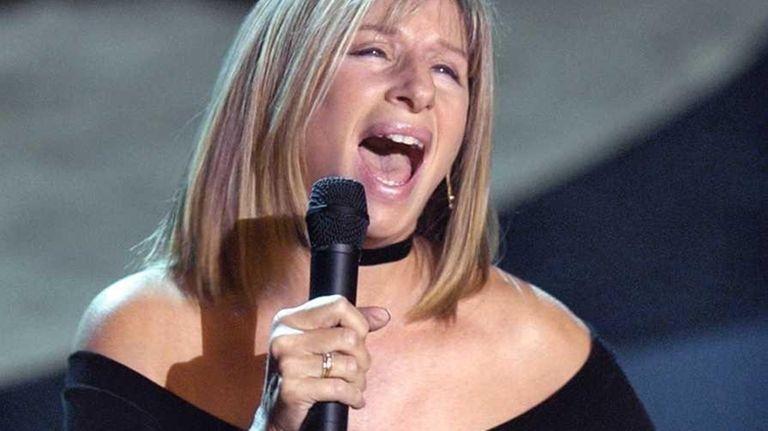 Barbra Streisand sings