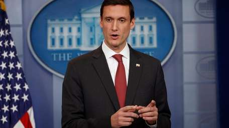 Then-homeland security adviser Tom Bossert at the White