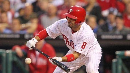 Center fielder Shane Victorino #8 of the Philadelphia