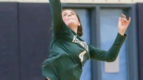 Westhampton's Olivia Jayne serves in the fourth game
