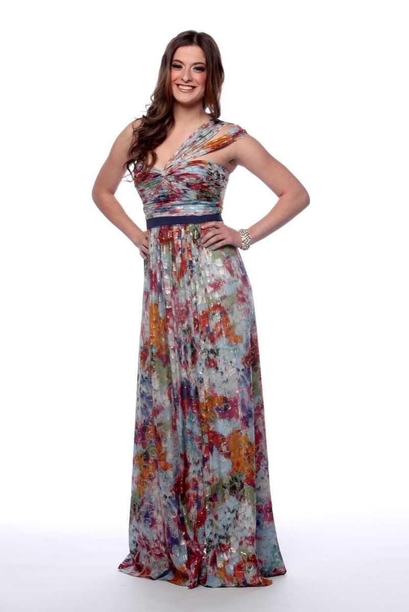 Golden garden: Marissa models dress number one from