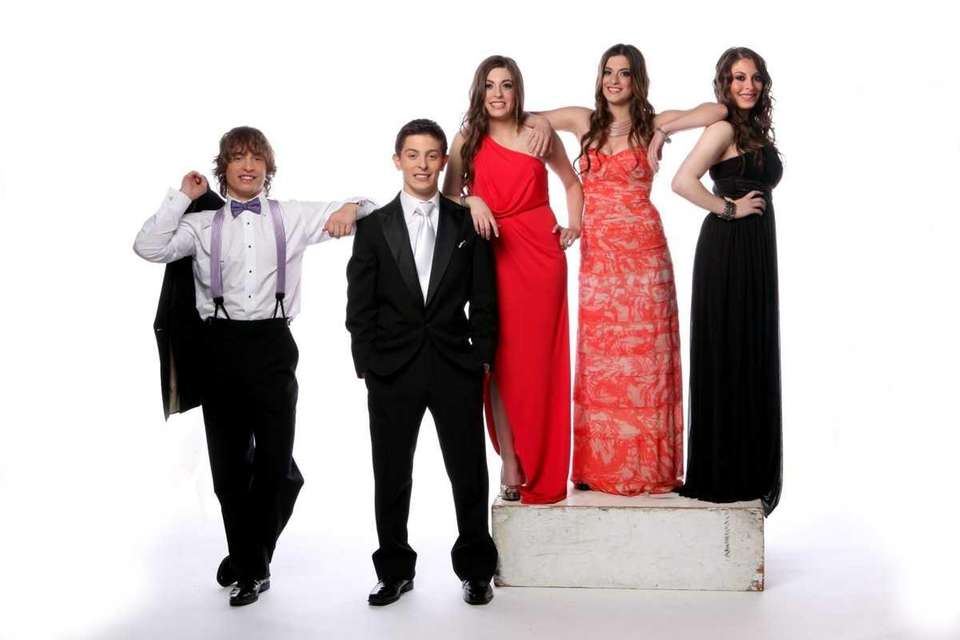 The Carbone quintuplets Austin, Brandon, Francesca, Marissa, and