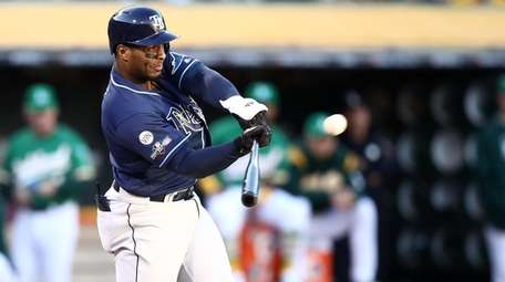 Yandy Diaz #2 of the Tampa Bay Rays