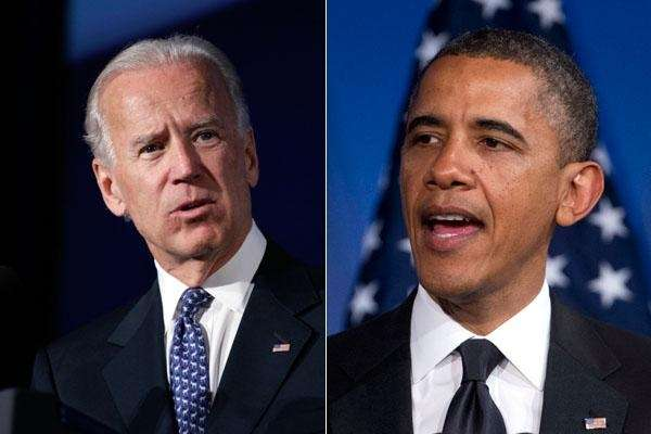 Vice President Joe Biden and President Barack Obama