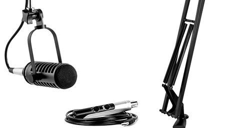 The MXL APS podcasting bundle starter kit includes