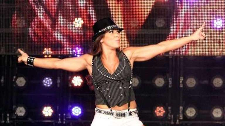 TNA Knockout Mickie James, who now juggles her