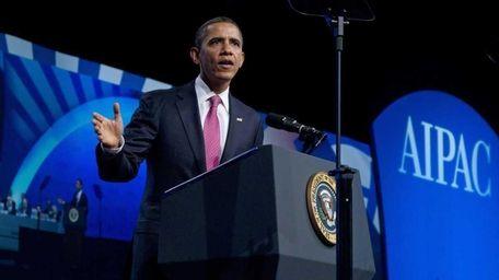 President Barack Obama addresses thousands at the opening