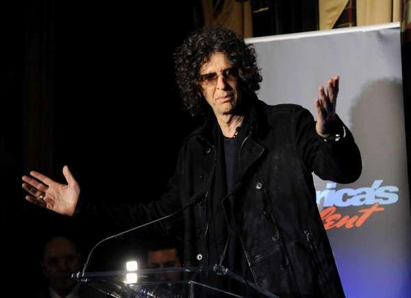 Howard Stern speaks to the media about his