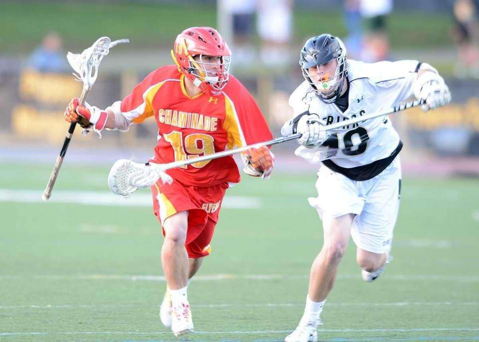 Chaminade's Mattew Graham (19) drives to the cage.