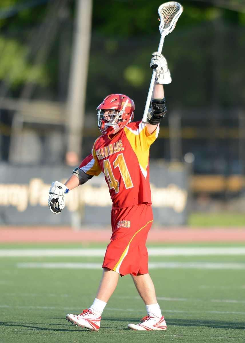 Chaminade's Gregory Rhodes (41) celebrates his goal. (May