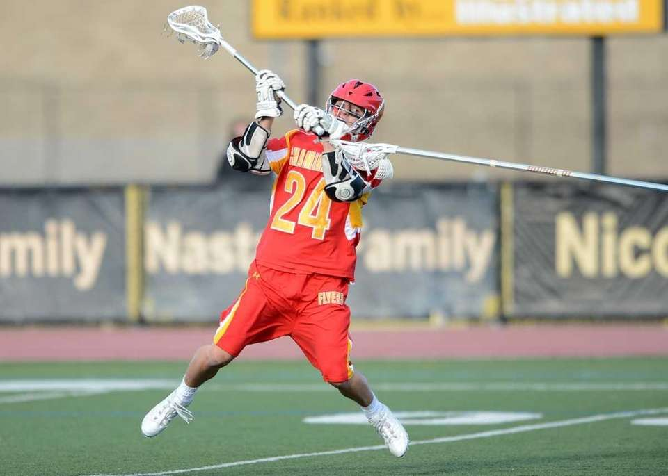 Chaminade's Ryan Lukacovic (24) shoots on goal. (May