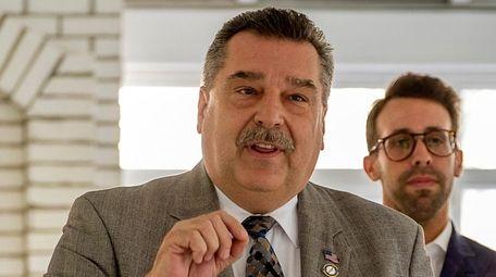 Mayor Tim Tenke speaks at the ceremony for