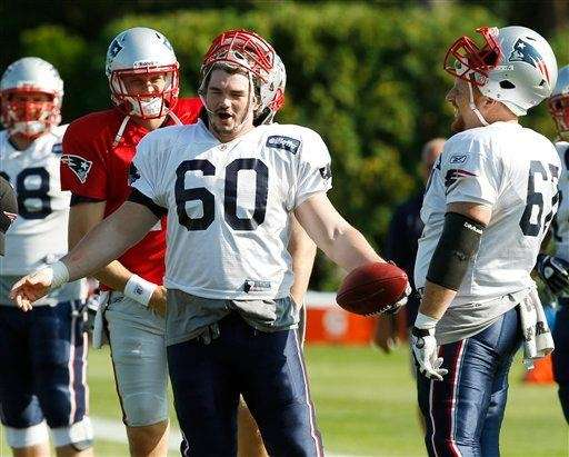 New England Patriots offensive lineman Rich Ohrnberger jokes