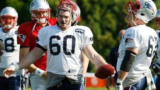New England Patriots offensive lineman Rich Ohrnberger jokes