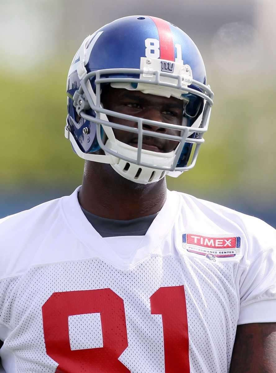 Adrien Robinson works out at the Giants' rookie
