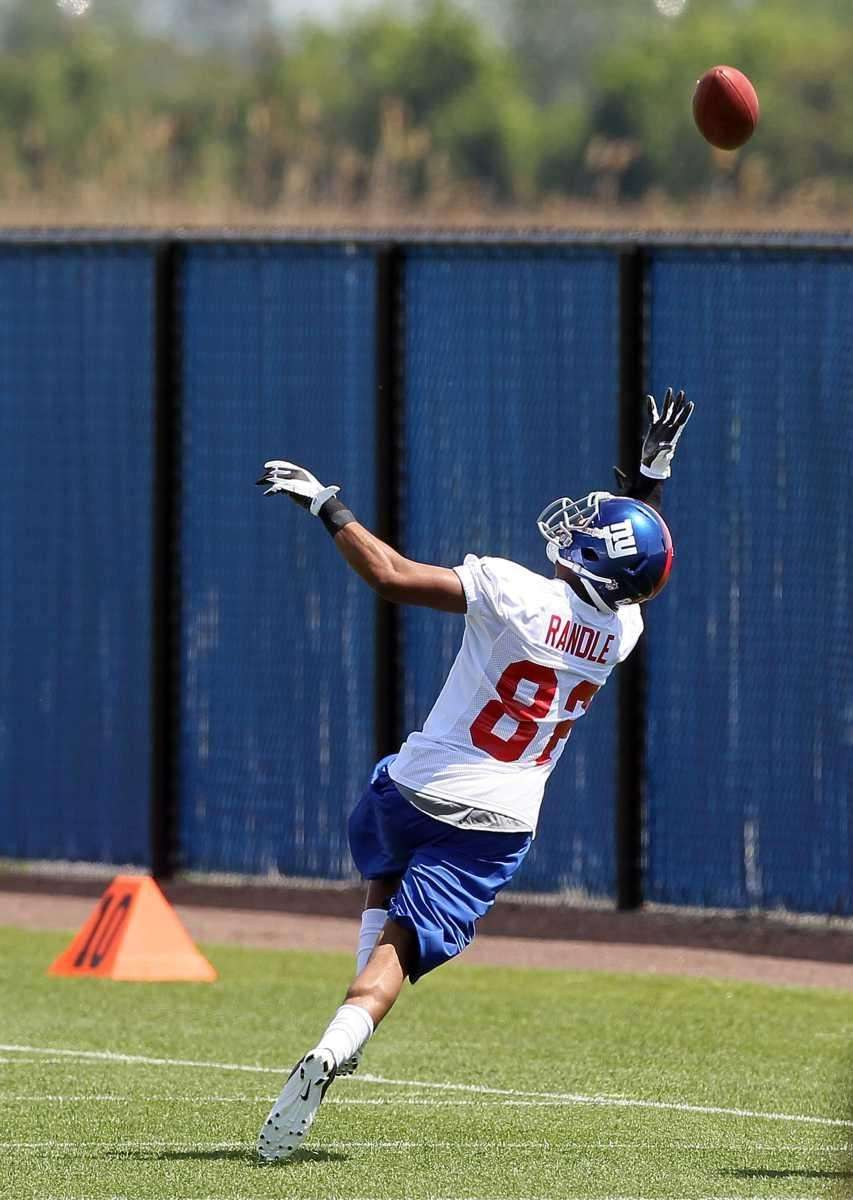 Wide receiver Rueben Randle works out at the