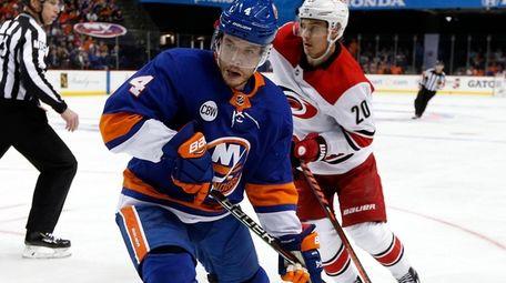 Thomas Hickey #4 of the New York Islanders