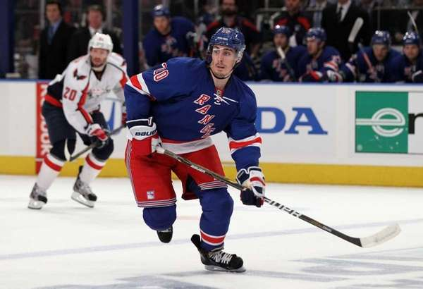 Chris Kreider of the Rangers skates against the