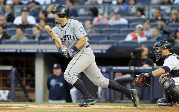 Jesus Montero in action against the Yankees at