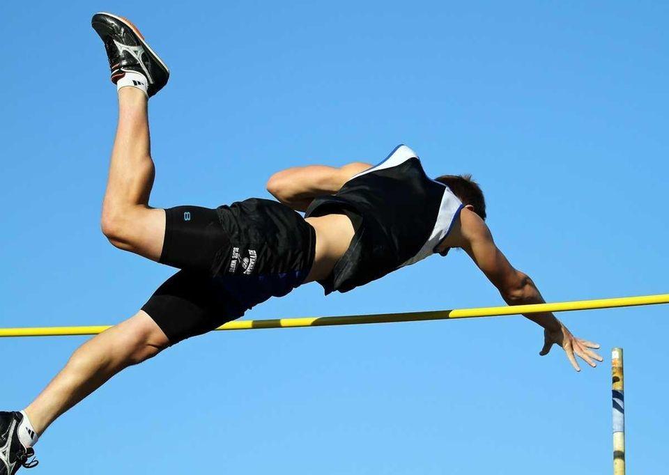 Riverhead's Dan Normoyle clears 13 feet in the