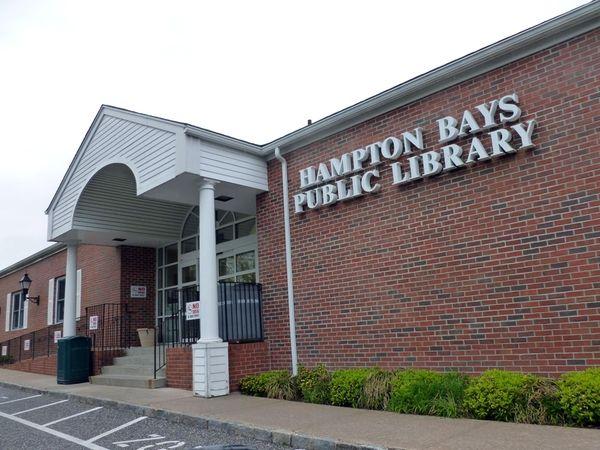 The Hampton Bays Public Library. (April 23, 2012)