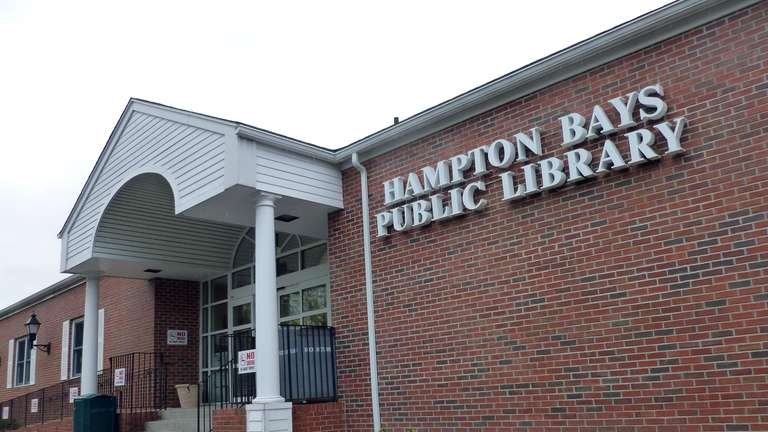 The Hampton Bays Public Library. (April 23, 2012)