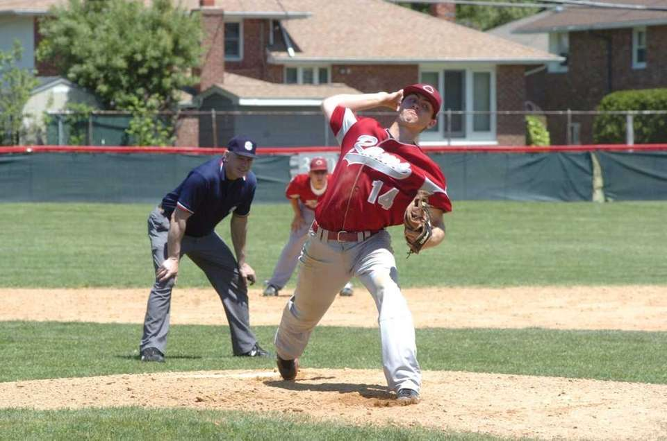 Chris Appell pitches for Clarke. (May 12, 2012)