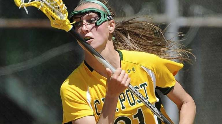LIU Post attacker Ashley Olen controls the ball