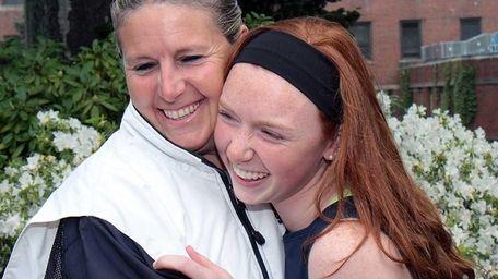 St. Dominic High School girls lacrosse coach Michelle