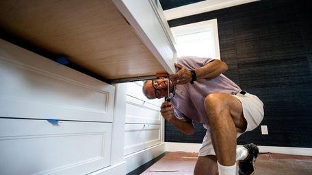 Joel Landstein completing renovations at his Roslyn home.