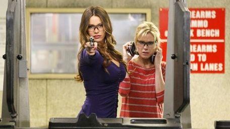 Sofia Vergara and Julie Bowen are shown in