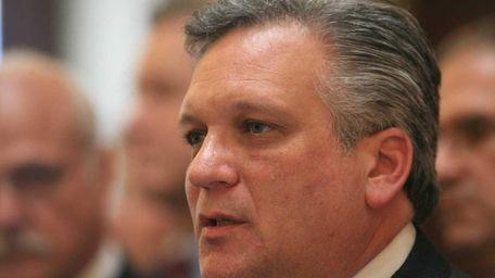 Nassau County Executive Edward Mangano in Mineola. (May