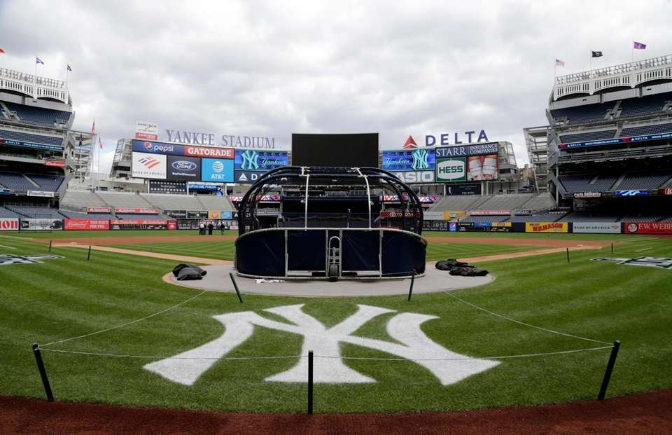 Yankee Stadium is all decked out before the