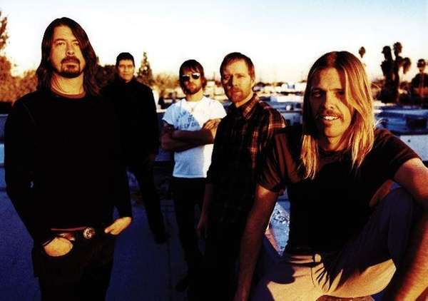 The Foo Fighters -- Dave Grohl, Pat Smear,