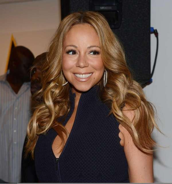 Mariah Carey attends the Project Canvas charity event