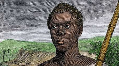 A hand-colored woodcut of a 19th century illustration