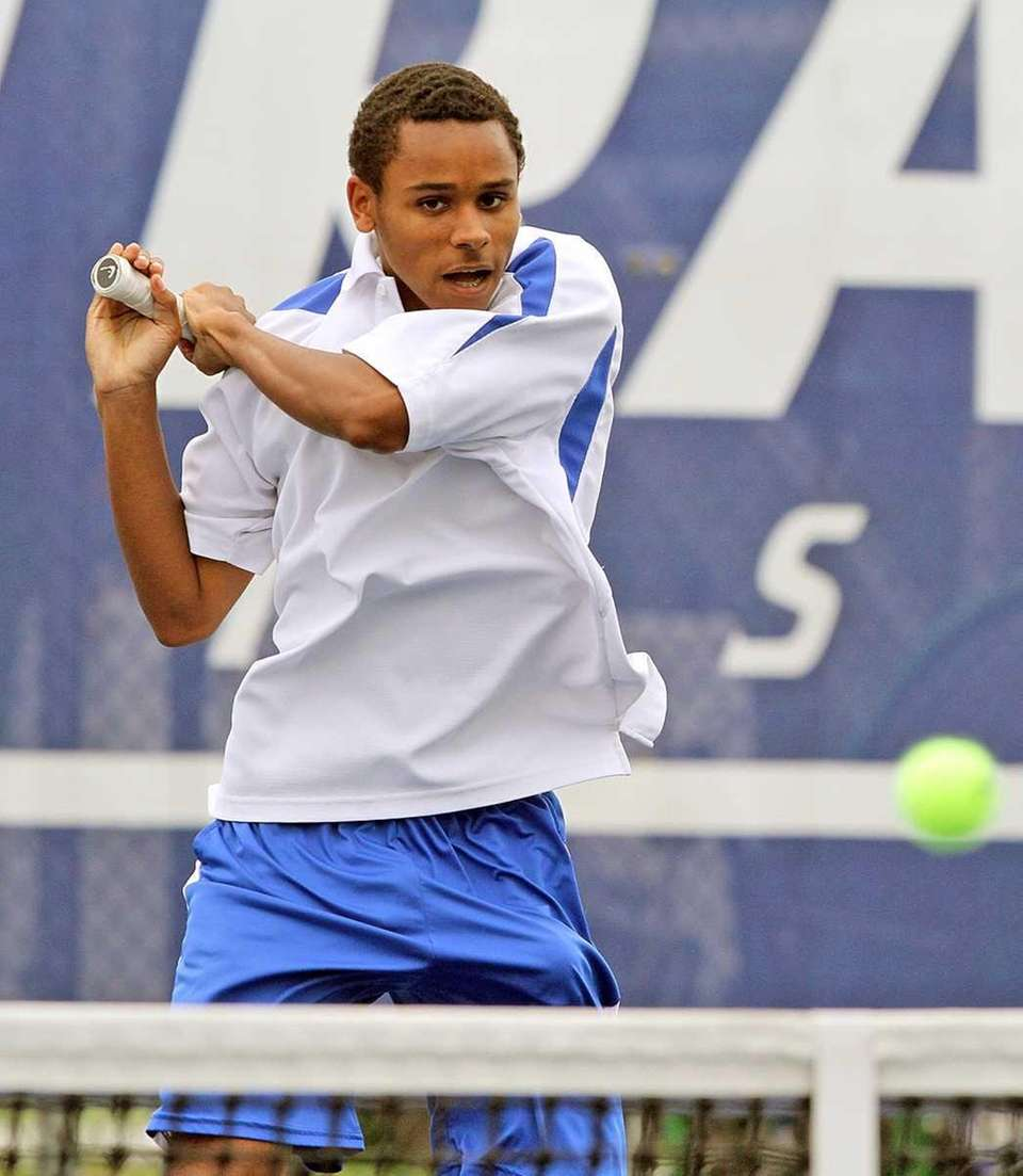 Kellenberg's Richard Mitchell during the championship singles match.