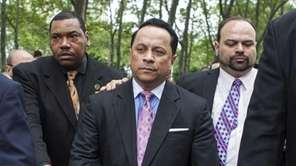 Pedro Espada Jr. walks out of Brooklyn Federal