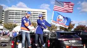 Islanders fans hosted tailgate parties outside NYCB Live's