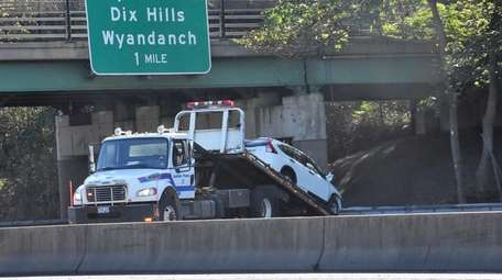 The eastbound Long Island Expressway was closed between