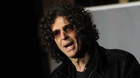 Radio talk show host Howard Stern speaks to