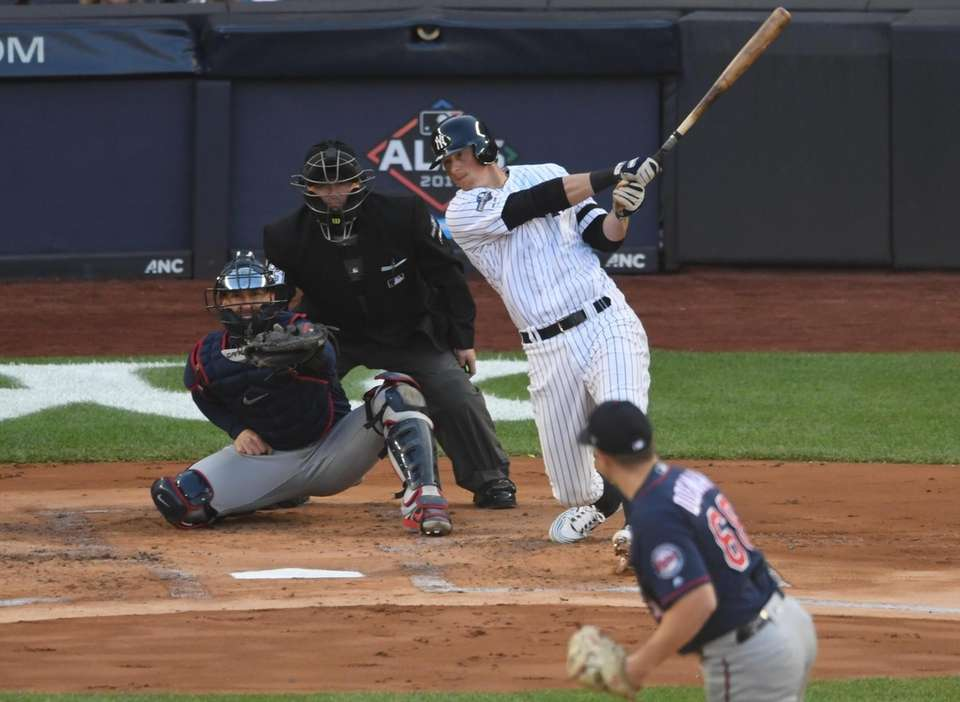 New York Yankees' DJ LeMahieu doubles in the
