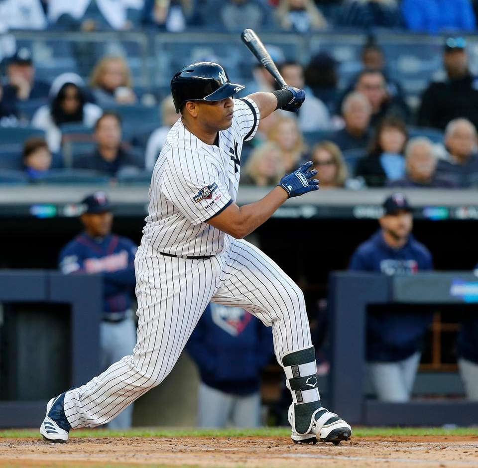 Edwin Encarnacion #30 of the New York Yankees