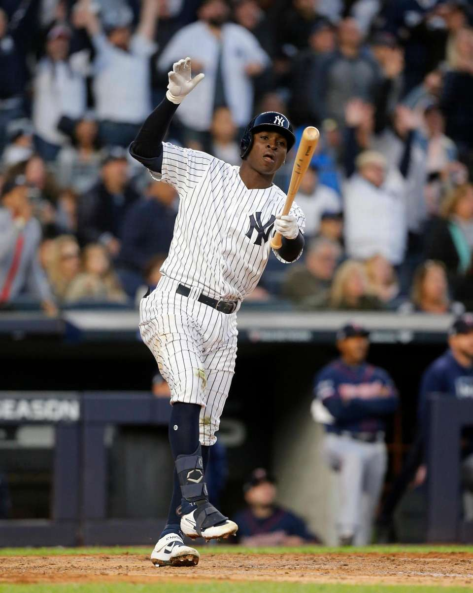 Didi Gregorius #18 of the New York Yankees