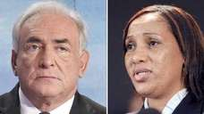 Nafissatou Diallo (R) and ex-IMF head Dominique Strauss-Kahn.