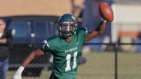 William Floyd's Wayne Bristel #11 celebrates in the