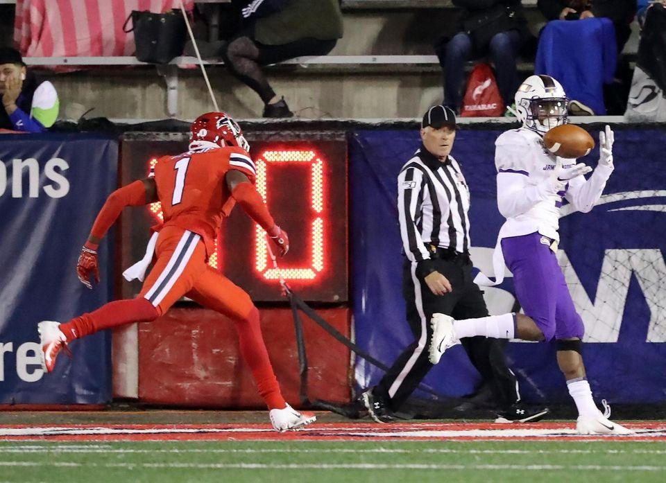 James Madison Dukes wide receiver Brandon Polk (3)