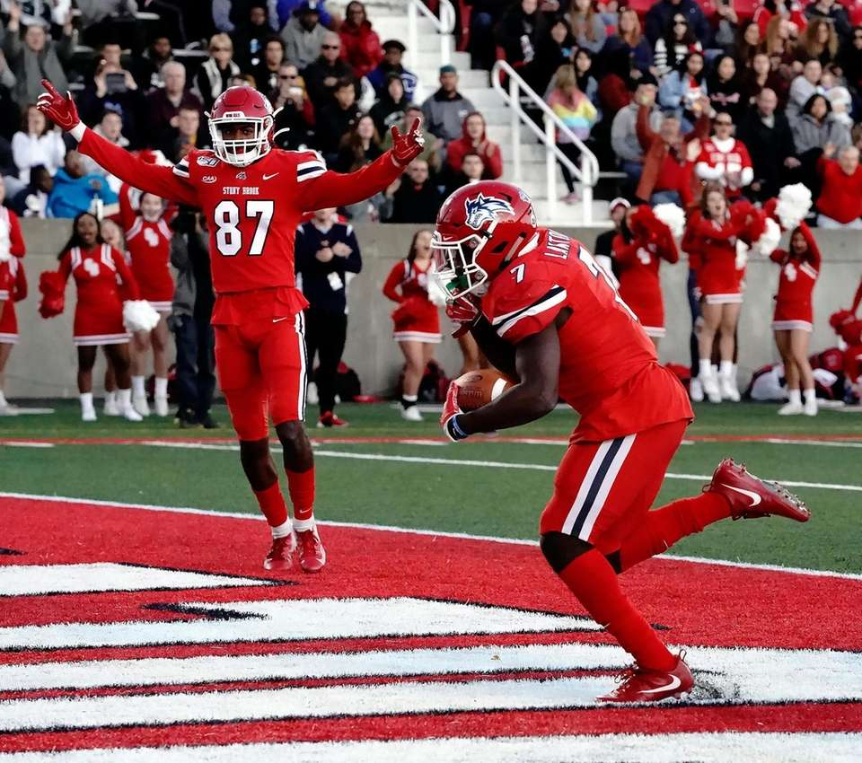 Stony Brook Seawolves wide receiver Nick Anderson (87)