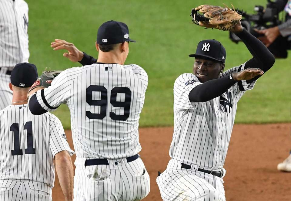 New York Yankees' Aaron Judge and Didi Gregorius,