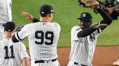 New York Yankees' Aaron Judge and Didi Gregorius,